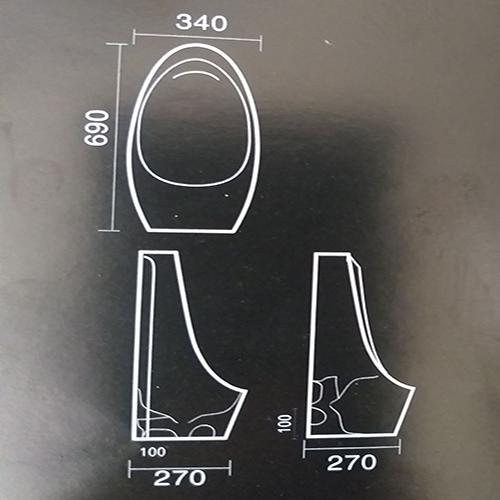 Kích thước của bệ tiểu nam GAMA GMCT409-P