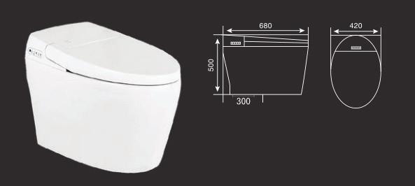 Kích thước của bồn cầu thông minh GAMA GMBC920