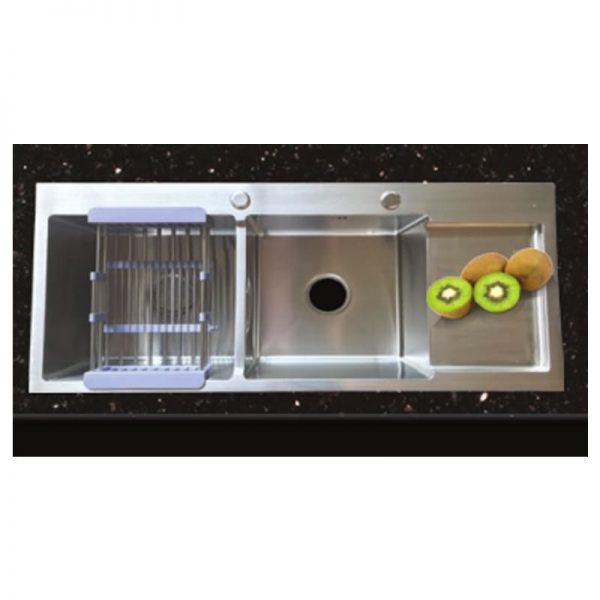 Chậu rửa chén inox 201 Nano màu đen GAMA GMCR004NN