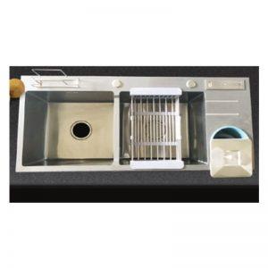 Chậu rửa chén inox 201 Nano màu đen GAMA GMCR005NN