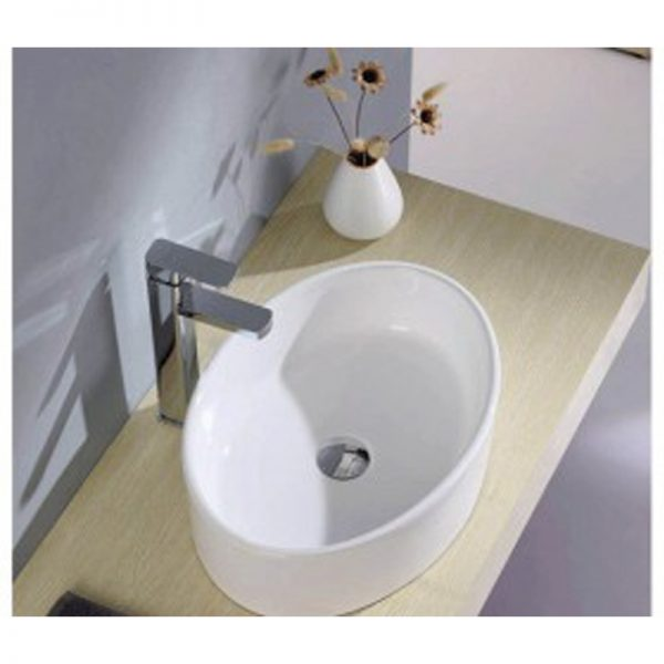 Chậu rửa Lavabo đặt bàn GAMA GMLB09 màu trắng