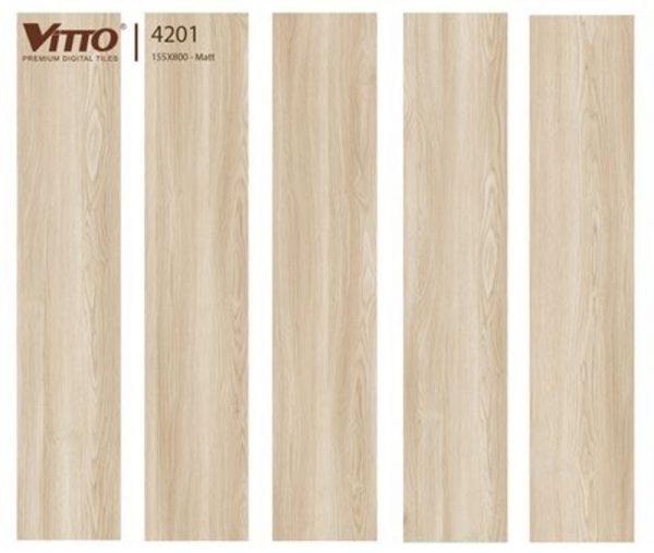 Gạch lát nền giả gỗ 15x80 VITTO 4201