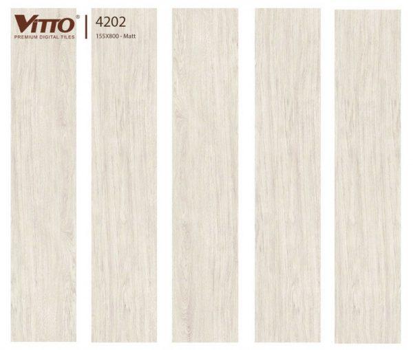 Gạch lát nền giả gỗ 15x80 VITTO 4202