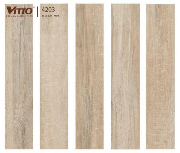 Gạch lát nền giả gỗ 15x80 VITTO 4203