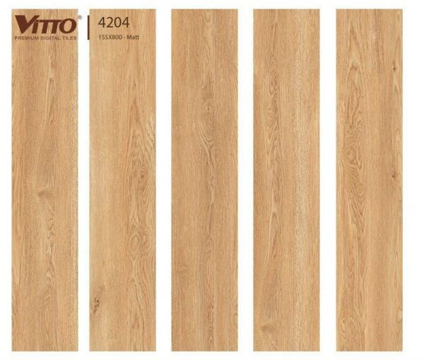 Gạch lát nền giả gỗ 15x80 VITTO 4204