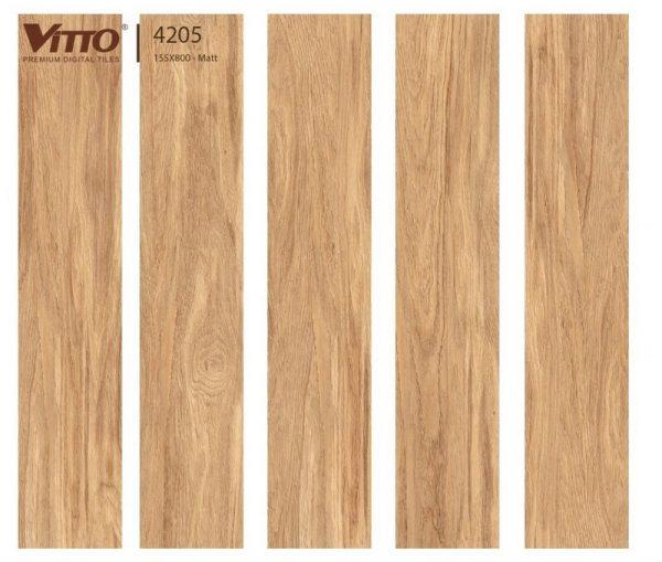 Gạch lát nền giả gỗ 15x80 VITTO 4205