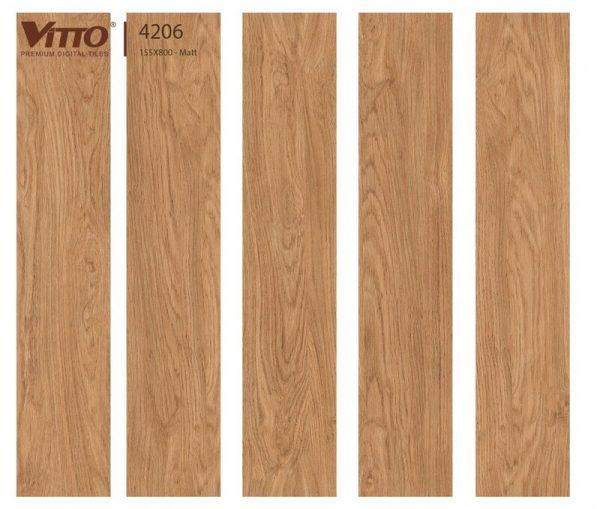 Gạch lát nền giả gỗ 15x80 VITTO 4206