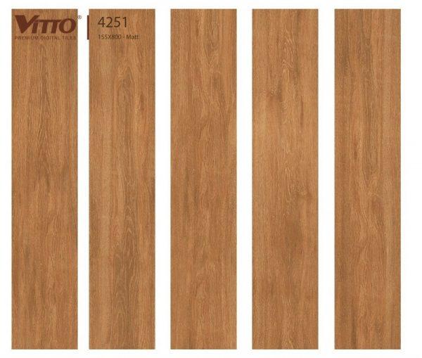 Gạch lát nền giả gỗ 15x80 VITTO 4251