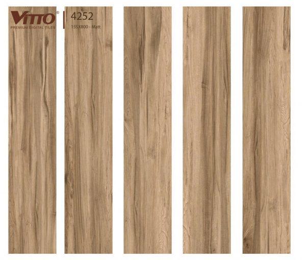 Gạch lát nền giả gỗ 15x80 VITTO 4252