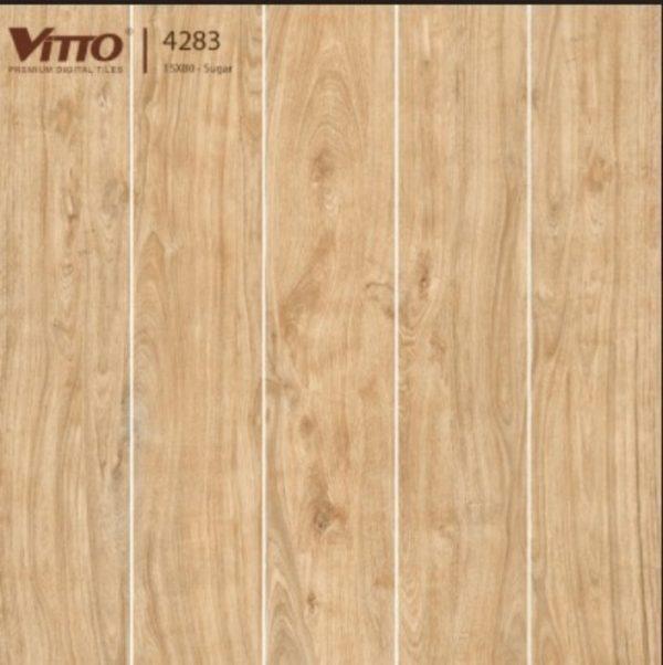 Gạch lát nền giả gỗ 15x80 VITTO 4283