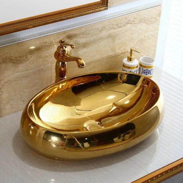 Chậu rửa Lavabo đặt bàn oval T.PID-G1323