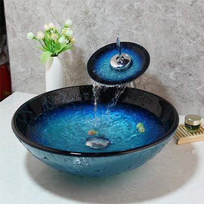Chậu rửa Lavabo thủy tinh T.YES-GLB.008