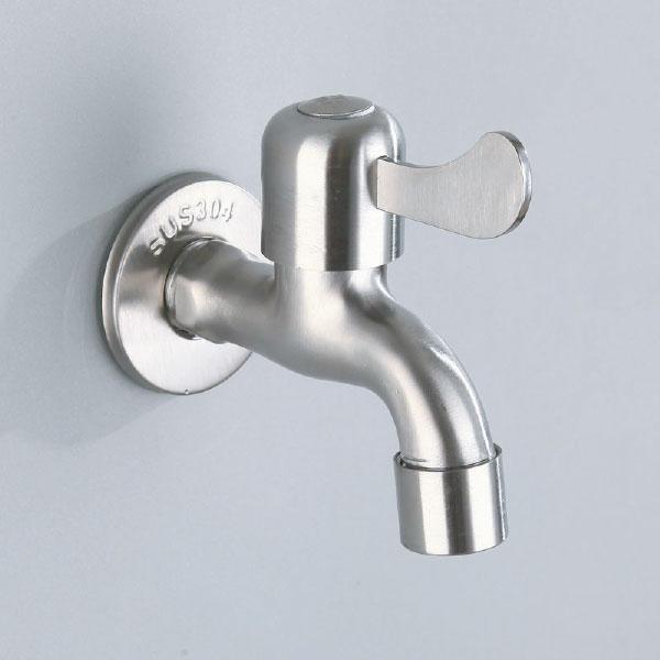 Vòi hồ inox 304 T.IBA-C1704 trắng bạc