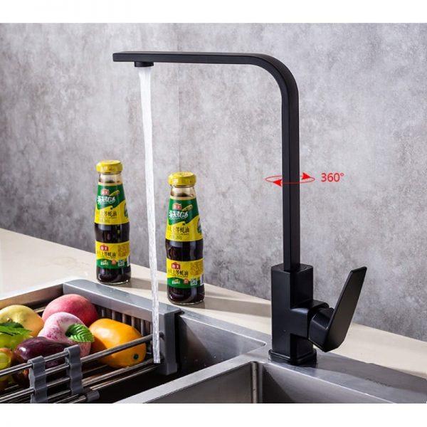 Vòi rửa chén inox 304 T.IBA-H3014B màu đen