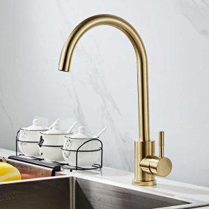 Vòi rửa chén inox 304 T.IBA-H3063V vàng đồng