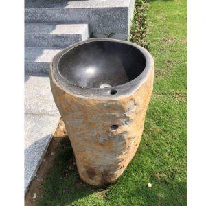 Bộ chậu rửa Lavabo đá Bazan nguyên khối