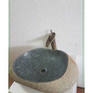 Chậu rửa Lavabo đá cuội xanh