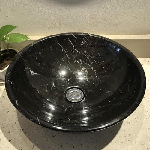 Chậu rửa Lavabo đá tự nhiên màu đen