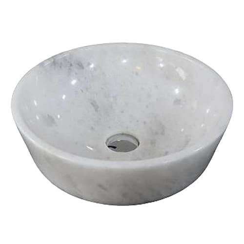 Chậu rửa Lavabo đá tự nhiên màu trắng có vân