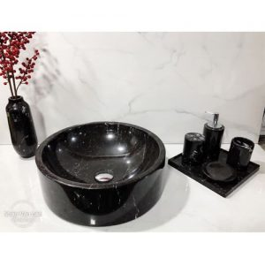Chậu rửa Lavabo tròn dày màu đen
