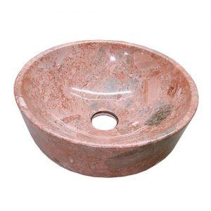 Chậu rửa Lavabo tròn dày màu hồng
