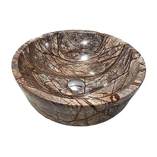 Chậu rửa Lavabo tròn dày màu Rainforest