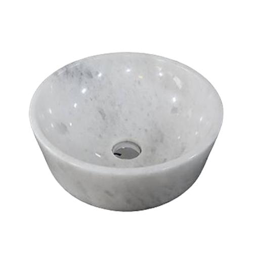 Chậu rửa Lavabo tròn dày màu trắng (có vân)