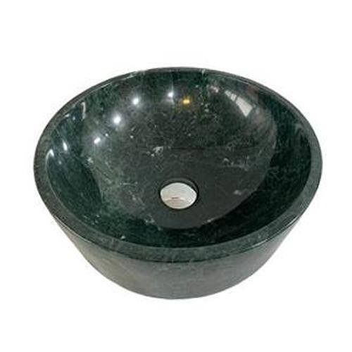 Chậu rửa Lavabo tròn dày màu xanh Ấn Độ