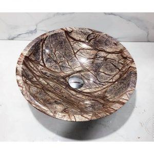 Chậu rửa Lavabo tròn mỏng màu Rainforest