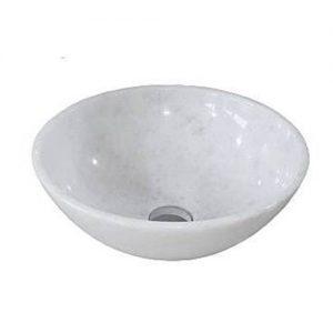Chậu rửa Lavabo tròn mỏng màu trắng (không vân)