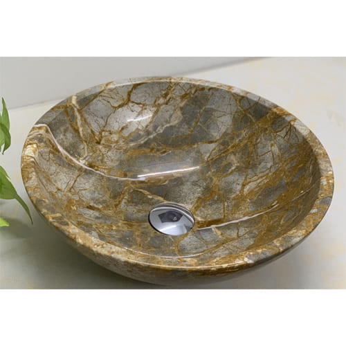 Chậu rửa Lavabo tròn mỏng vàng Thanh Hóa (Yellow forest)