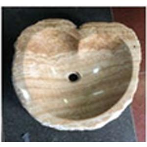 Chậu rửa Lavabo vân gỗ hình trái tim