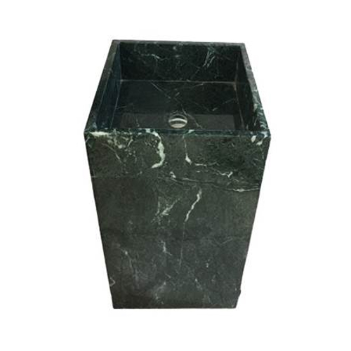 Chậu rửa Lavabo vuông đứng màu xanh nguyên khối