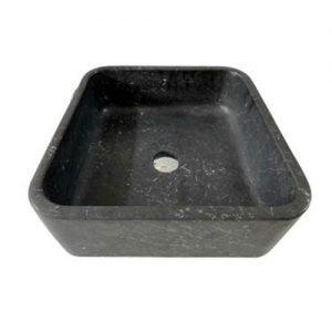 Chậu rửa Lavabo vuông mỏng màu đen mài mờ