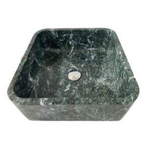 Chậu rửa Lavabo vuông mỏng màu xanh dưa
