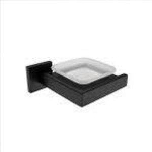 Kệ xà phòng màu đen inox T.IBA-50608 vuông vắn