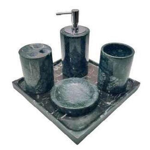 Set phụ kiện phòng tắm đá tự nhiên xanh vân gỗ