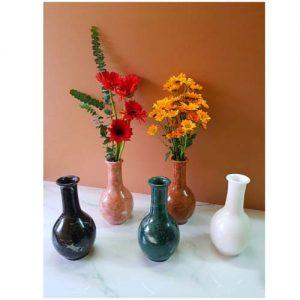 Bình cắm hoa cổ cao bằng đá tự nhiên