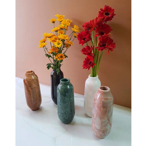 Bình cắm hoa cổ ngắn bằng đá tự nhiên