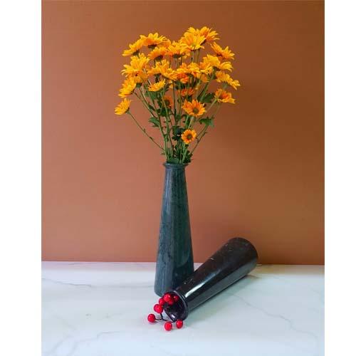 Bình cắm hoa bằng đá tự nhiên kiểu suông nhỏ